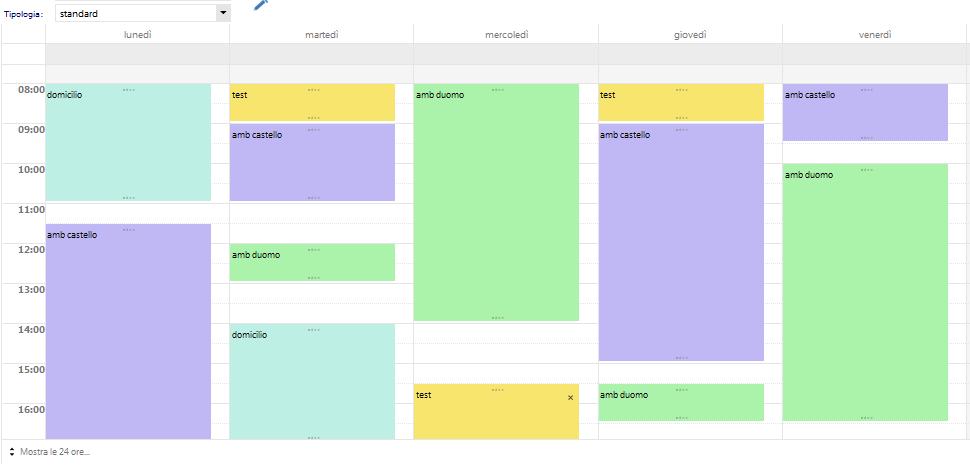 agenda settimanale Masterdoc